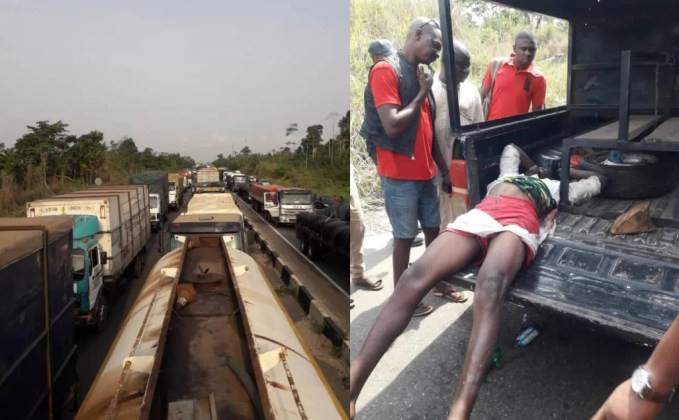 Tanker drivers block Lagos-Benin expressway over the killing of 2 drivers by suspected Herdsmen