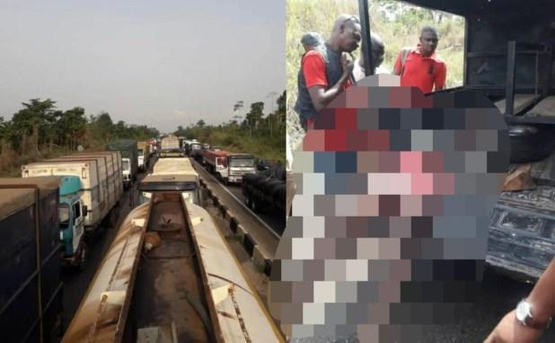 Tanker drivers block Lagos-Benin expressway over the killing of 2 drivers by suspected Herdsmen