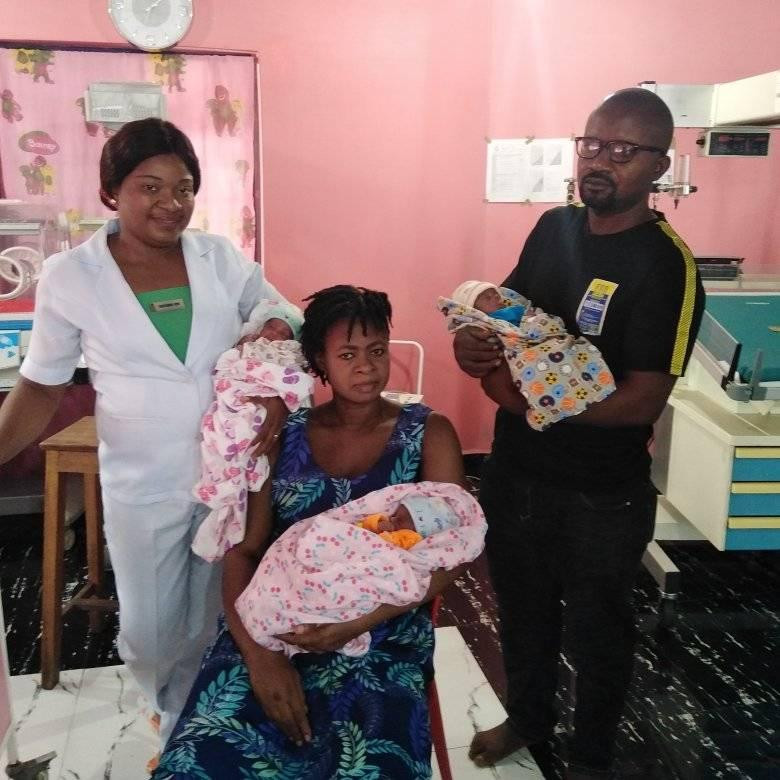 Nigerian woman gives birth to triplets after 11 years of marriage