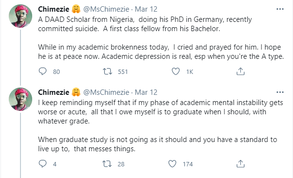 Nigerian First Class graduate and PhD student on scholarship in Germany reportedly commits suicide