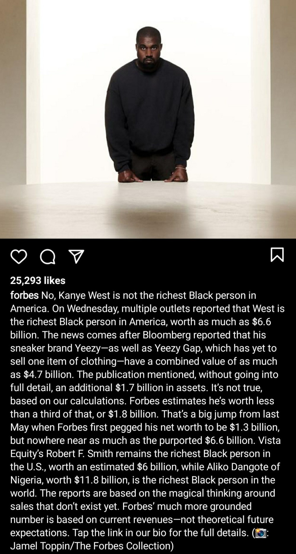 """""""Kanye West is NOT the richest Black person in America"""" - Forbes refutes report Kanye"""