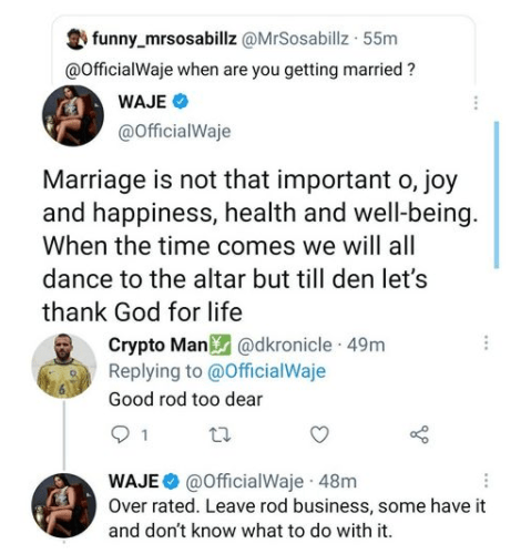 Marriage is not that important - Singer Waje