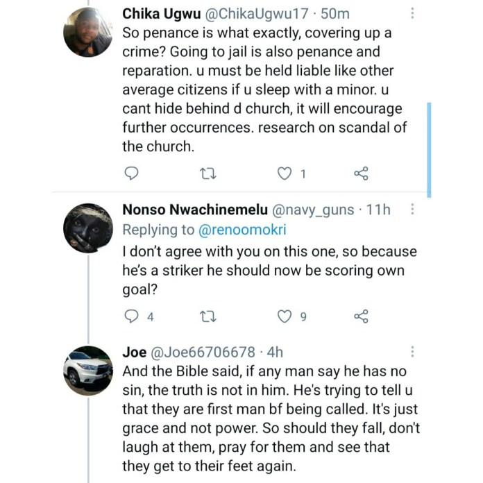 """Reno Omokri condemns Pentecostals who tear down pastors caught in sin as he compares them to Catholics who see priests caught in sin as """"wounded soldiers who need protection"""""""