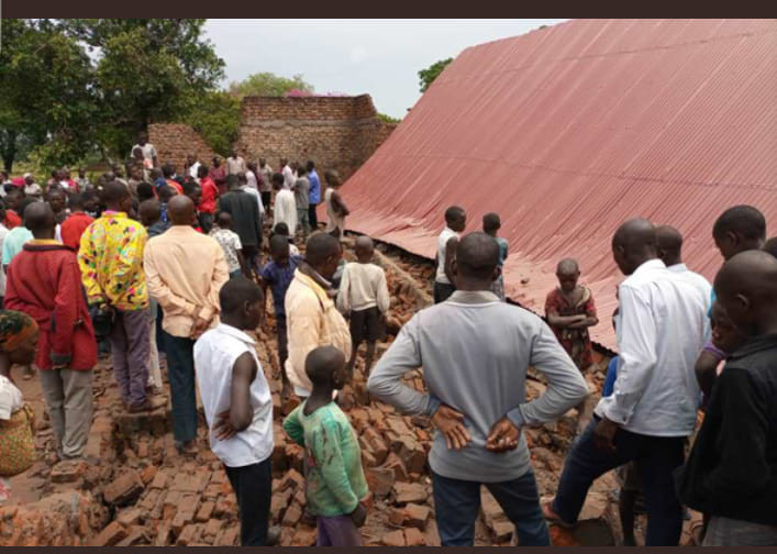 Two dead, 8 injured as church collapses on worshippers in Uganda