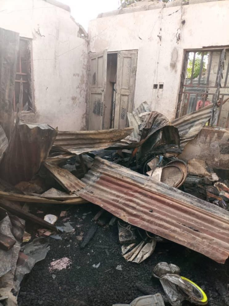 Two children burnt to death as fire razes house in Niger state (photos)