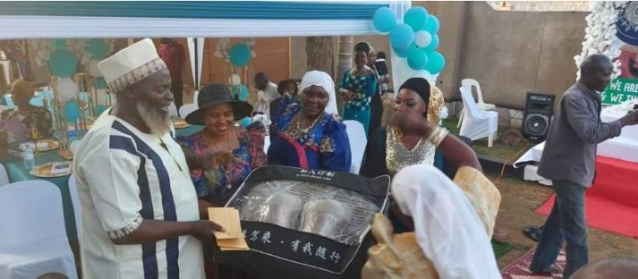 """Ugandan man moved to tears as his five wives surprise him with a birthday party """"for creating a harmonious relationship among them"""""""