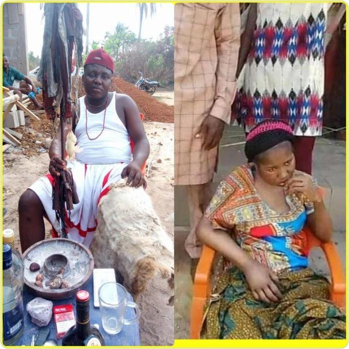 You have to forgive this girl - Asaba-based native doctor, Chi Marine begs Prophet Odumeje to forgive comedienne, Ada Jesus (video)