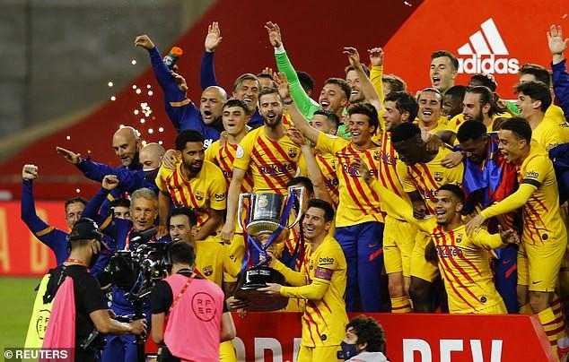Barcelona beat Athletic club 4-0 to win Copa del Rey trophy (photos)