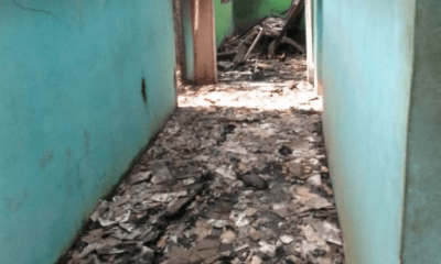 Unknown gunmen raze police station in Abia, release inmates (photos)