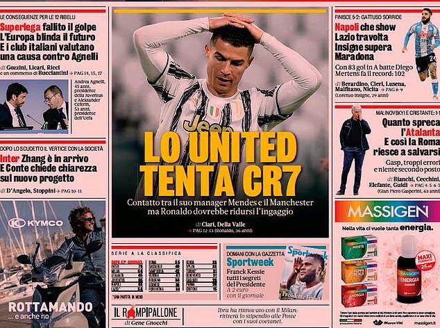 Manchester United make contact with Cristiano Ronaldo