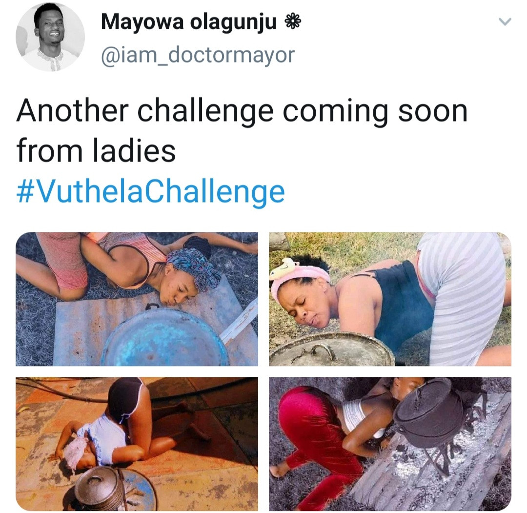 South African women show off their assets as they take part in viral Vuthela Challenge (photos)