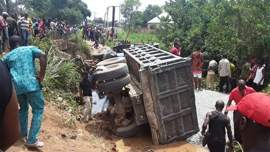 Truck crushes 10 women to death at Imo market