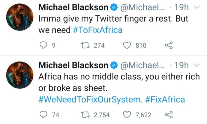 """We need to fix Africa"" Comedian, Michael Blackson laments about the situation in Africa"