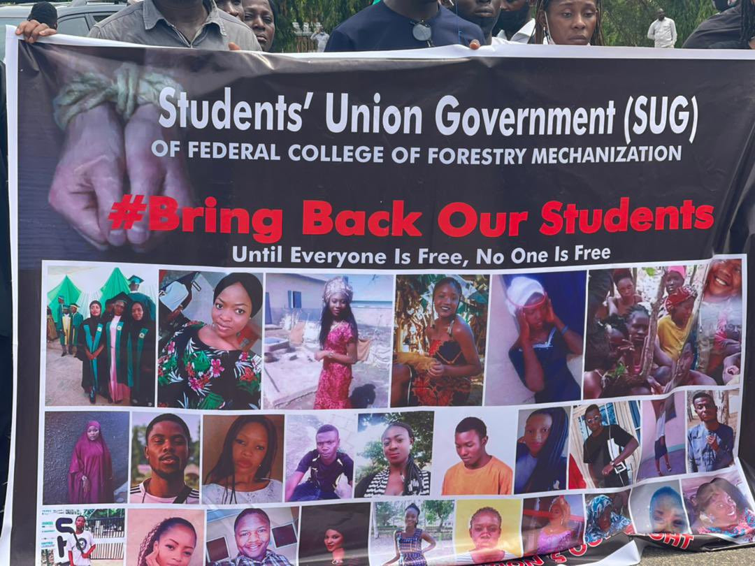 Parents of abducted Greenfield University students stage protest in Abuja (photos)