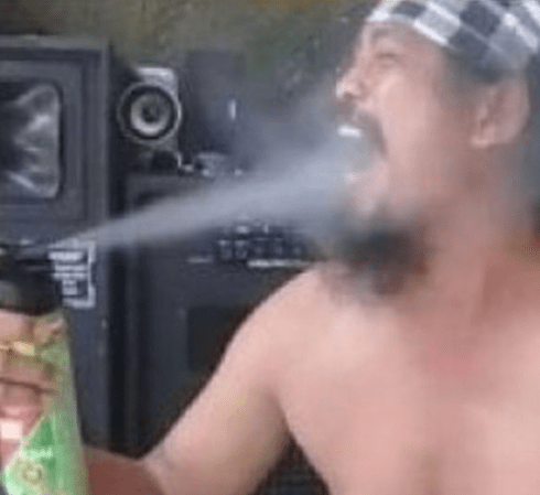Guru who went viral when he sprayed insecticide into his mouth dies