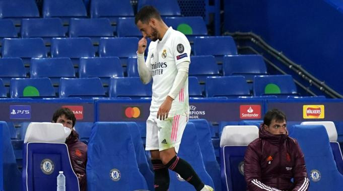 Real Madrid forward, Eden Hazard apologises to fans for laughing with Chelsea players after Champions League exit (video)