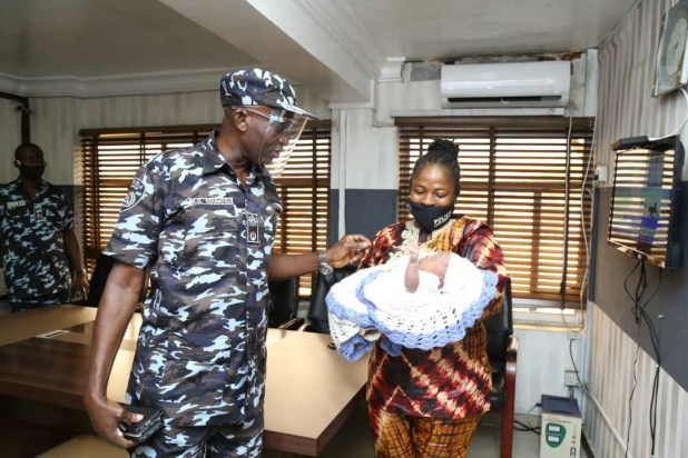 Lagos state police command rescue another one-month-old baby (photos)