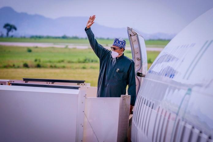 Photos: President Buhari departs for France