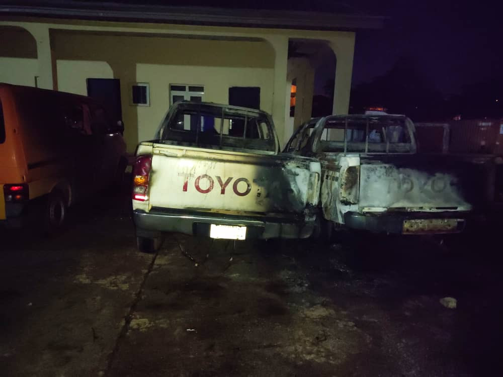 Police foil attempt to set INEC office in Enugu ablaze (photos)