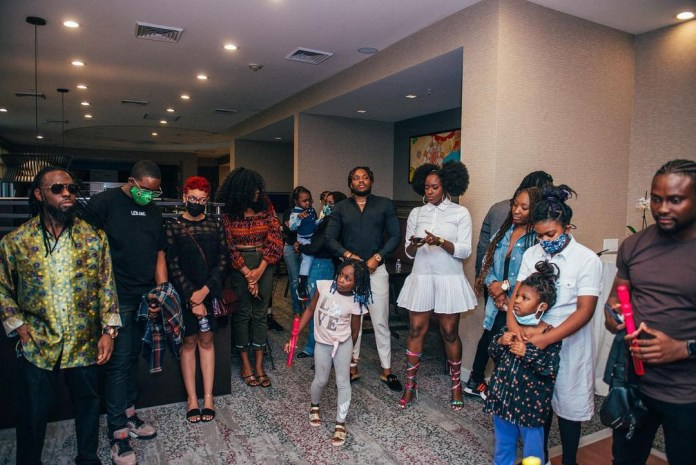 Singer, Timaya and Dunni, throw their daughter, Maya, a party as she turned one (photos/Video)