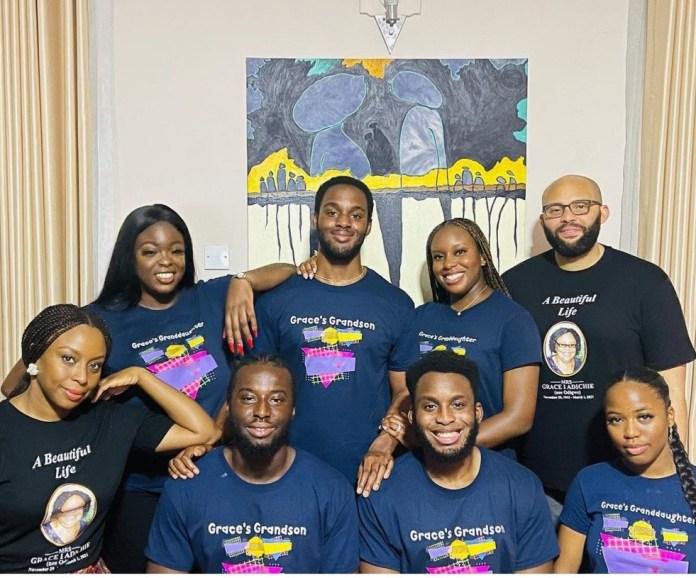 Chimamanda Adichie shows off her nieces and nephews