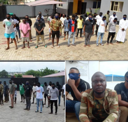 Former soldier and 33 others arrested for alleged internet fraud in Osun (photos)