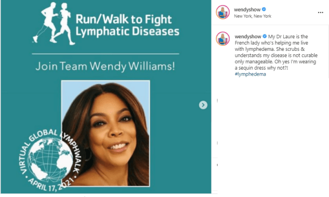 Wendy Williams shares?painful-looking photo of her swollen foot following battle with?lymphedema disease