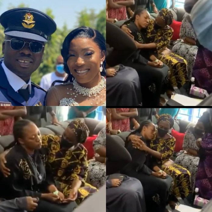 Dolapo Osinbajo pays condolence visit to the widow of Flt Lt. Alfred Olufade who sadly lost his life in the Kaduna military air crash (video)