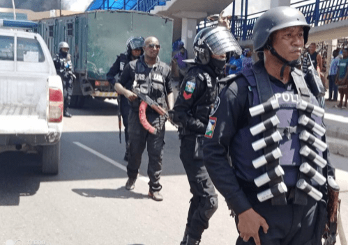Lagos police command dismiss reports a police station was burnt by hoodlums
