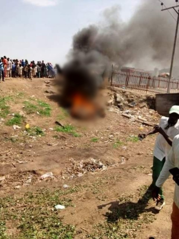 Angry mob sets two suspected bandits ablaze in Niger state