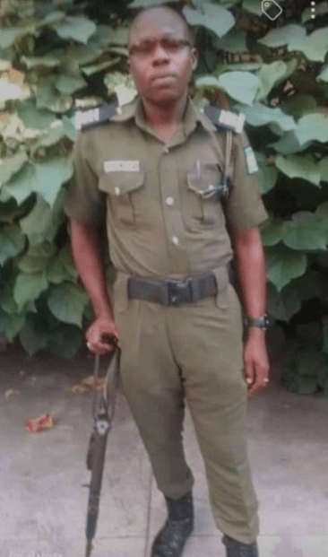 Photos of the police officer who died outside primary school in Ebonyi when the grenade on him exploded