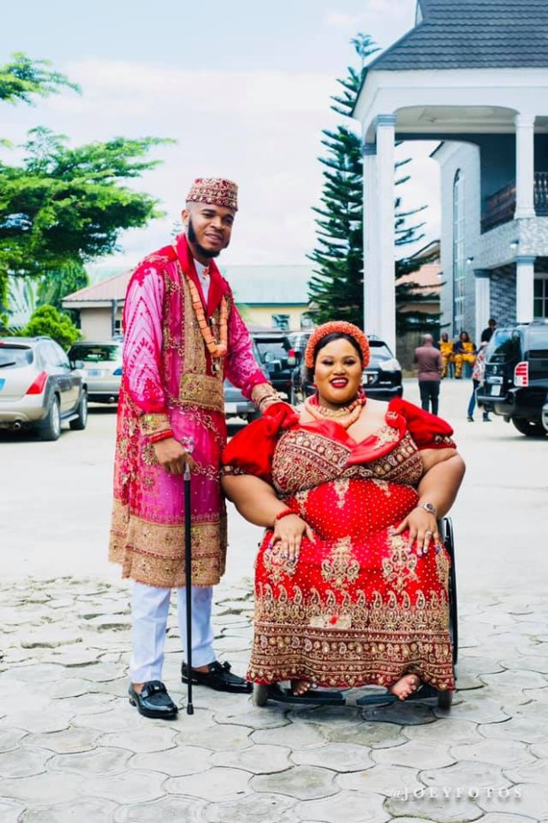 Photos from the traditional wedding of pretty differently-enabled Nigerian woman, Dorathy Osaronu