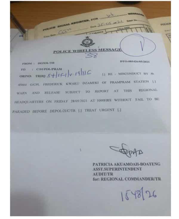 Police officer arrested for insulting Ghana