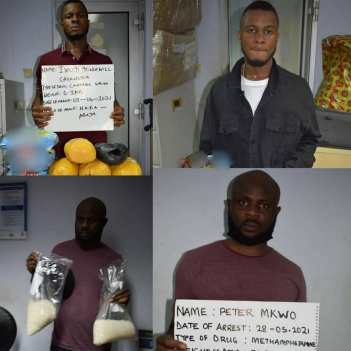 School leaver, accounting graduate, nabbed with drugs at Abuja and Kano airports (photos)