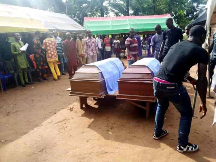 Two biological brothers who were allegedly murdered by suspected Fulani herdsmen are laid to rest in Ebonyi