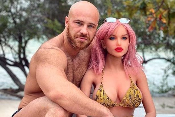 Bodybuilder who married s3x doll says having s3x with raw chicken meat inspired him to create new lover shaped like a hen (photos)