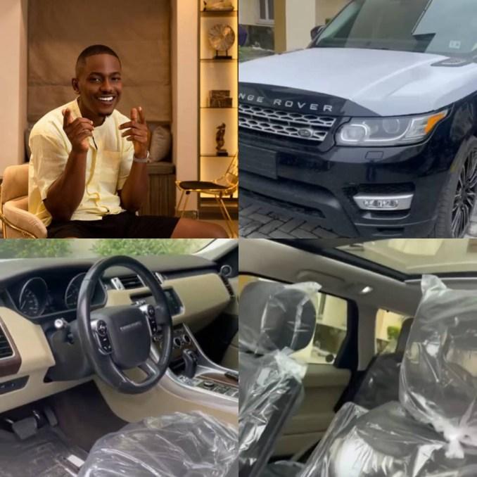 Actor, Timini Egbuson, buys himself a Range Rover as birthday gift
