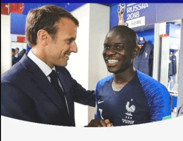 France president Emmanuel Macron backs Chelsea star N'Golo Kante for Ballon d'Ór