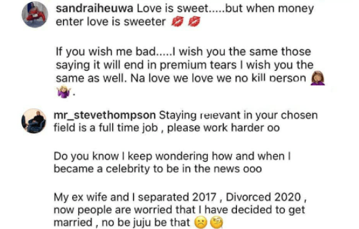 Ubi Franklin's baby mama, Sandra Iheuwa updates her bio to read 'engaged to a boss' after rumor of her romance with businessman Steve Chidi 1