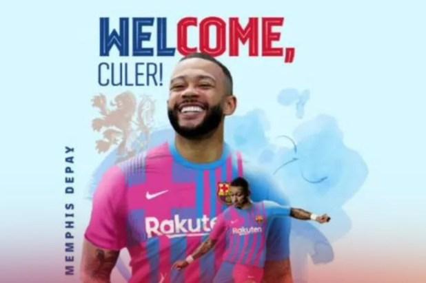 Barcelona sign Netherlands forward, Memphis Depay for free