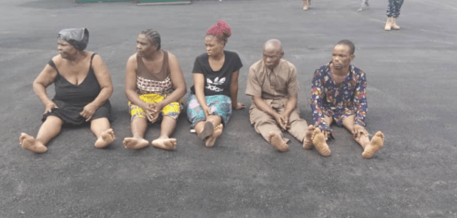Police in Imo arrest syndicate that specializes in Kidnapping/abduction and child trafficking (photos)