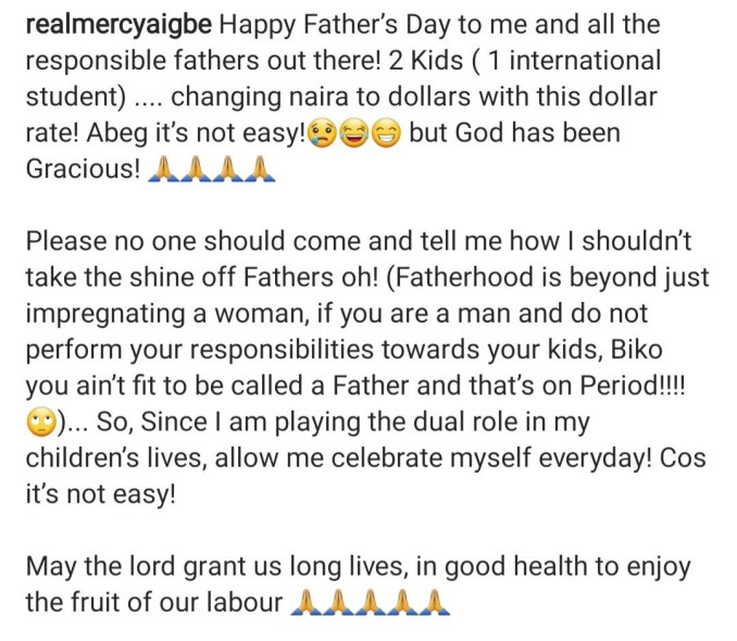 Tonto Dikeh and Mercy Aigbe wish themselves Happy Father's Day
