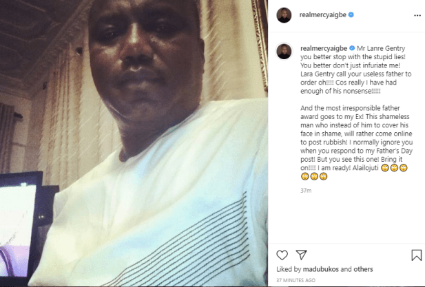 Update: Mercy Aigbe blasts her ex-husband, Lanre Gentry, after he threw shade at her over her father