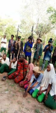 Bandits release photos of abducted Kebbi teachers and students