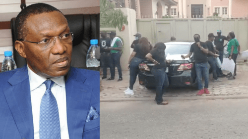 Bank workers storm Senator Andy Uba's house in Abuja, ask him to pay up his debt