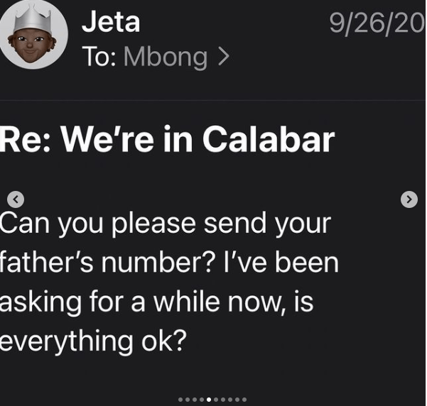 Mbong is not conscious, she will never allow her mother take her child to her uncle and her stepdad - Jeta Amata continues asking for whereabouts of ex-wife