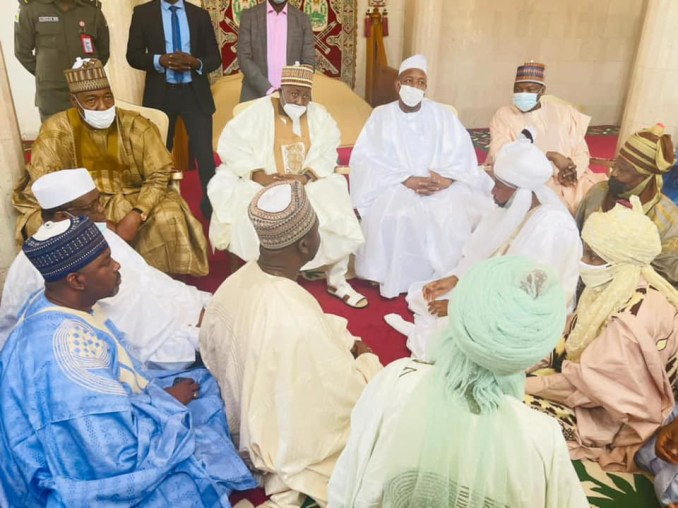 Update: Photos of State Governors, others at Emir of Kano's palace to seek marriage for President Buhari's son, Yusuf