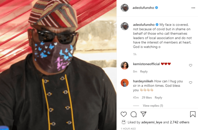 My face is covered in shame over those who call themselves leaders of local association but don't have interest of members - Actor Funsho Adeolu slams TAMPAN leaders 1