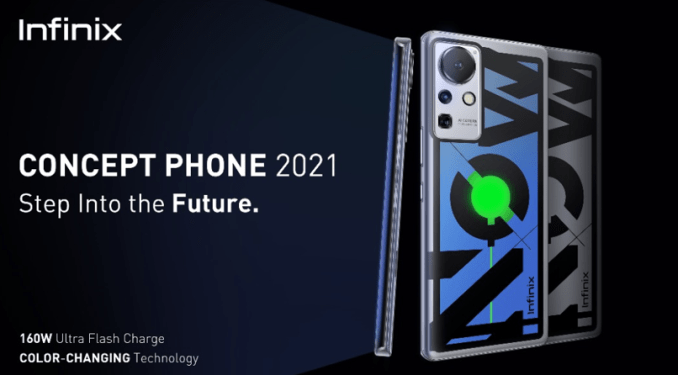 Infinix rolls out Concept Phone with 160W Fast Charging & Color-changing Back Cover