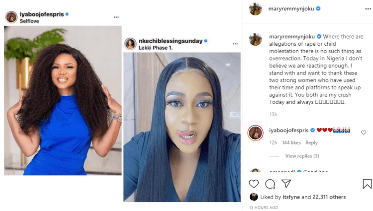TAMPAN Ban: Where there are allegations of rape or child molestation, there is no such thing as overreaction - Mary Remmy Njoku supports Nkechi Blessing Sunday and Iyabo Ojo